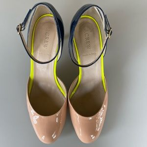 J.Crew Patent Leather Pumps, Size 9, made in Italy